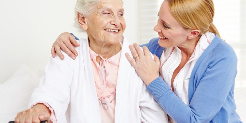 Häusliche Pflege von Pflegerin
