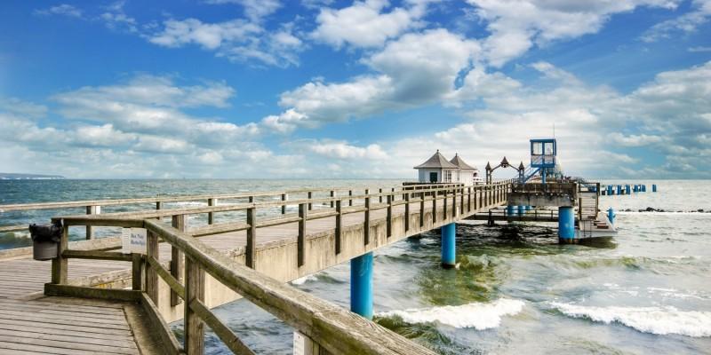 Seebrücke an der Ostsee